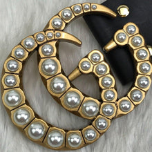 Load image into Gallery viewer, Gucci GG Buckle Pearl Double