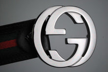 Load image into Gallery viewer, Gucci GG Interlocking Buckle Handmade Leather Belt