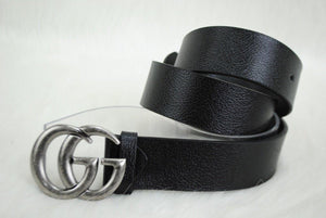 Gucci GG Buckle Leather Belt