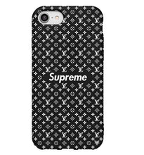 Load image into Gallery viewer, Louis Vuitton Supreme iPhone SE 2020 Phone Case Black