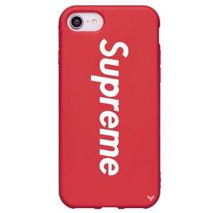 Louis Vuitton Supreme iPhone SE 2020 Phone Case Red