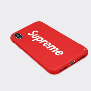 Louis Vuitton Supreme iPhone X Phone Case Red