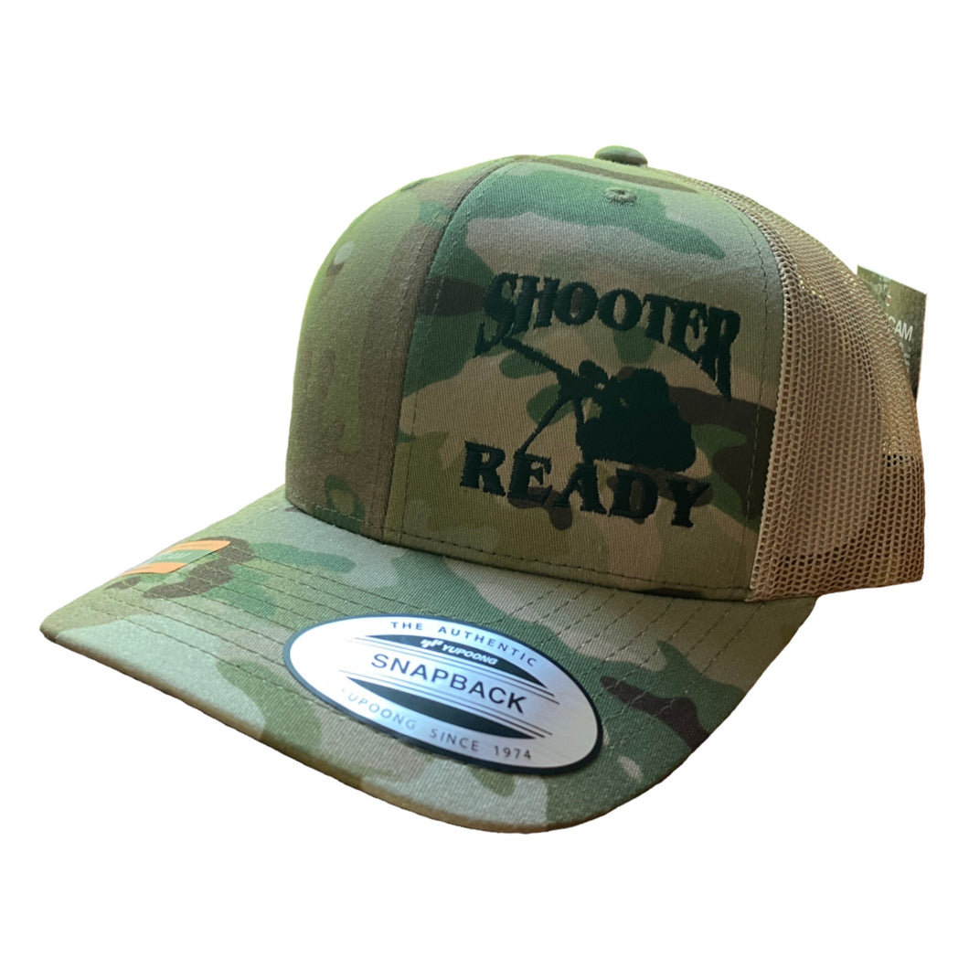 Shooter Ready Multicam Embroidered Snapback