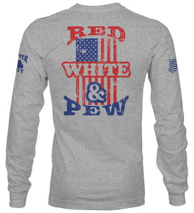 Red, White, & Pew Long Sleeve T-Shirt