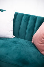 Load image into Gallery viewer, Chelsea Emerald Velvet Couch