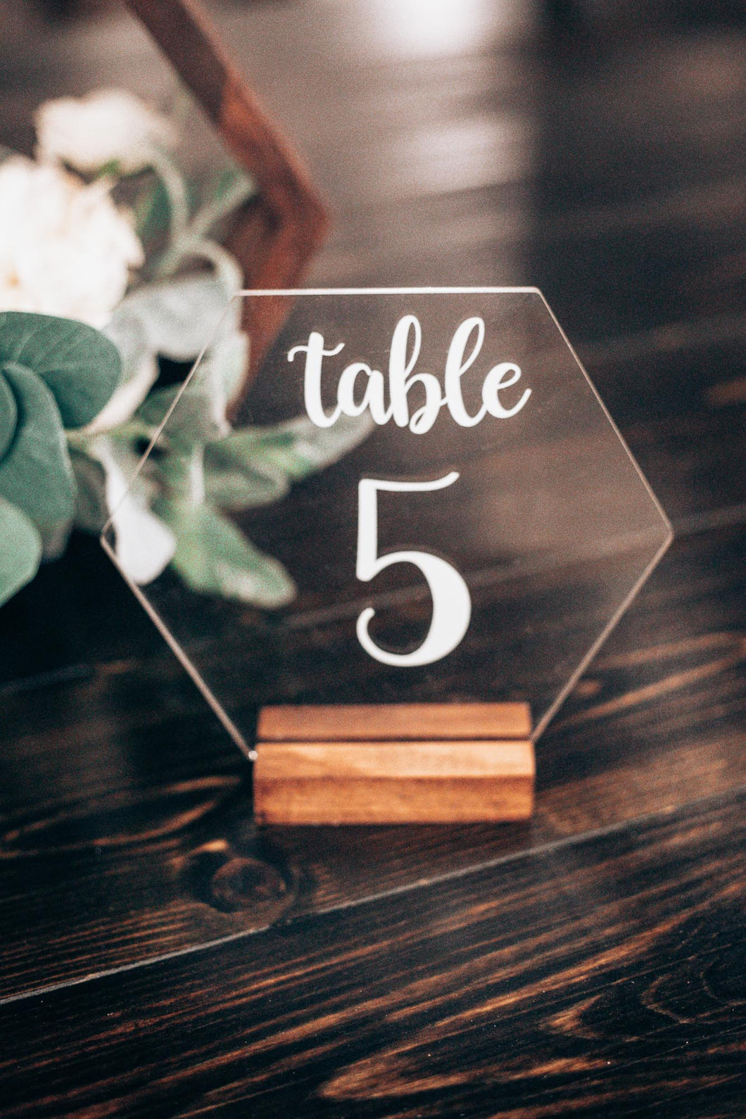 Hexagon Table Numbers