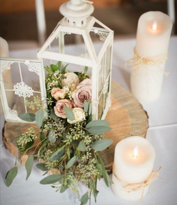 White Lantern Centerpiece