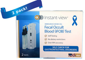 Instant-view® iFOB At-Home Screening Test (2 pack) - Rapid One Step Test