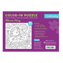 Load image into Gallery viewer, Flower Fairy Color-in Puzzle