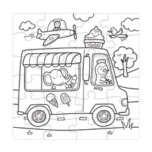 Load image into Gallery viewer, Ice Cream Truck Color-in Puzzle
