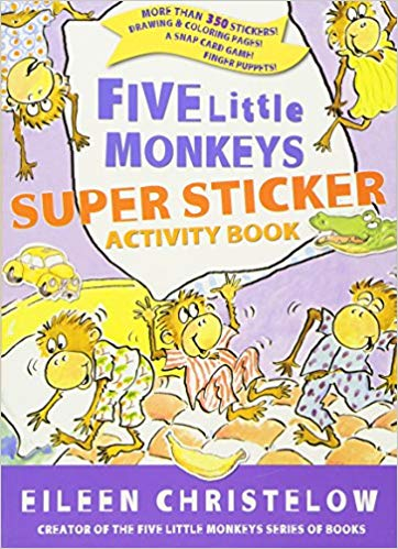 Five Little Monkeys Super Sticker Activity Book
