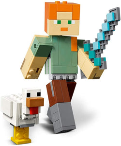 LEGO® Minecraft 21149 Alex BigFig with Chicken (160 pieces)