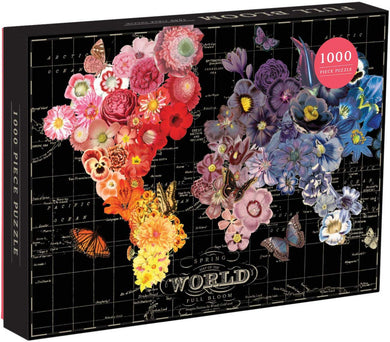 Full Bloom World Map Puzzle (1000 pieces)