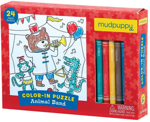 Animal Band Color-in Puzzle