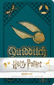 Harry Potter: Quidditch Hardcover Ruled Journal