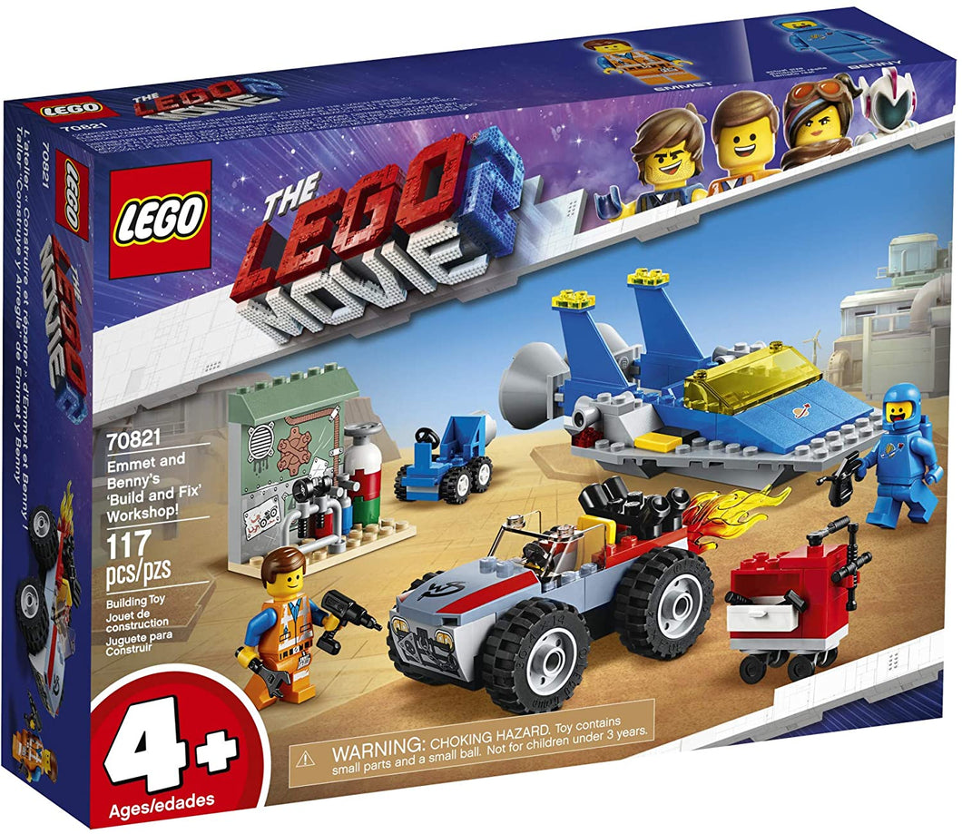 LEGO® 70821 The LEGO Movie 2 Emmet and Benny's 'Build and Fix' Workshop (117 pieces)