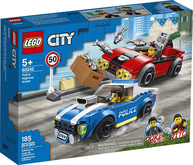 LEGO® CITY 60242 Police Highway Arrest (185 pieces)