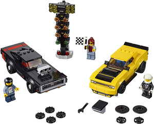 LEGO® Speed Champions 75893 2018 Dodge Challenger SRT Demon and 1970 Dodge Charger R/T (478 Pieces)