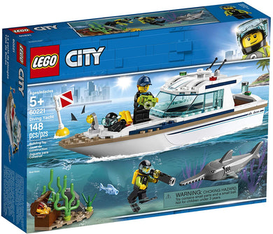 LEGO® CITY 60221 Diving Yacht (148 pieces)