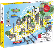 Load image into Gallery viewer, New York City Map (1000 Piece Jigsaw Puzzle for Adults and Families)