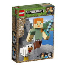 Load image into Gallery viewer, LEGO® Minecraft 21149 Alex BigFig with Chicken (160 pieces)