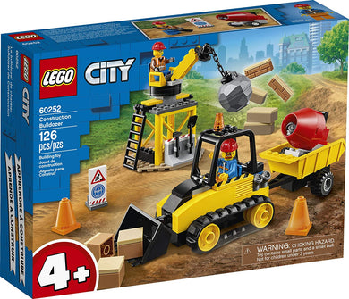 LEGO® CITY 60252 Construction Bulldozer (126 pieces)