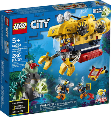 LEGO® CITY 60264 Ocean Exploration Submarine (286 pieces)