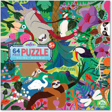 Sloths at Play Jigsaw Puzzle (64 pieces)
