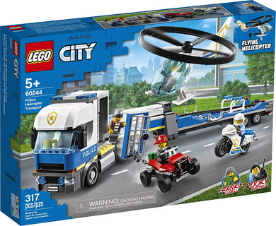 LEGO® CITY 60244 Police Helicopter Transport (317 pieces)