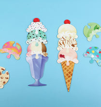 Load image into Gallery viewer, Ice Cream Scoop Puzzle: Countless Sweet Creations with 32 Flavors