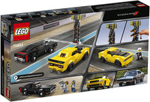 Load image into Gallery viewer, LEGO® Speed Champions 75893 2018 Dodge Challenger SRT Demon and 1970 Dodge Charger R/T (478 Pieces)