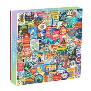 Vintage Travel Luggage Labels Puzzle (500 pieces)