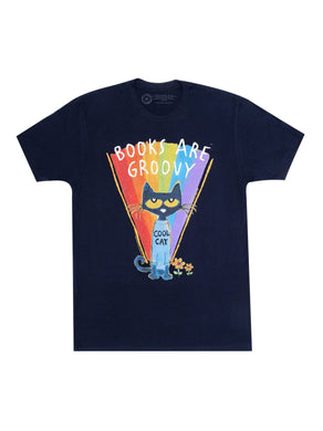 Pete the Cat - Books are Groovy Unisex T-Shirt