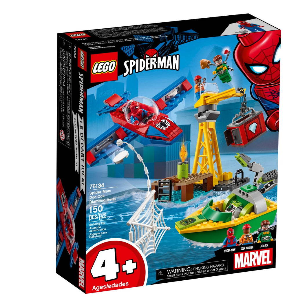 LEGO® Marvel Spider-Man 76134 Spider-Man: Doc Ock Diamond Heist (150 pieces)