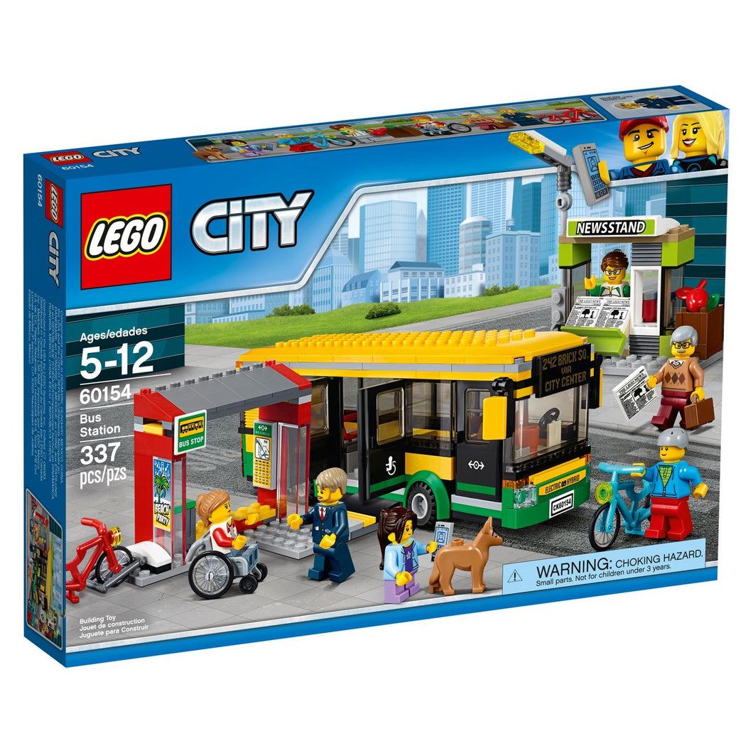 LEGO® CITY 60154 Town Bus Station (337 pieces)