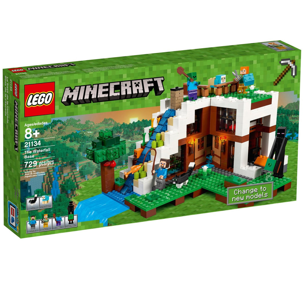LEGO® Minecraft 21134 The Waterfall Base (729 pieces)