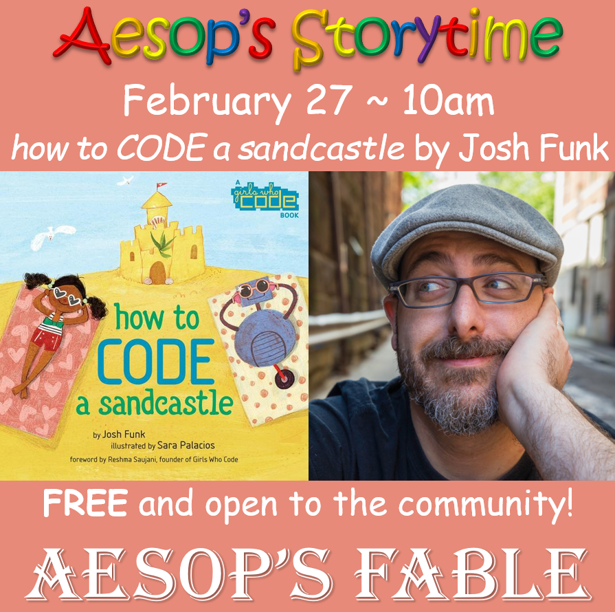 February 27 ~ How to Code a Sandcastle with author Josh Funk