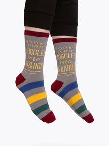 Books Turn Muggles into Wizards Socks (Adult)