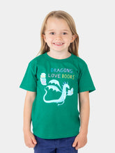 Load image into Gallery viewer, Dragons Love Books Kids T-Shirt