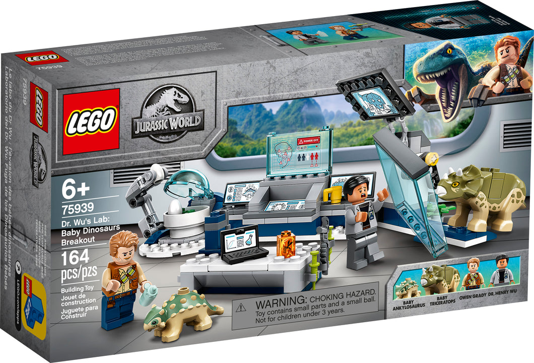 LEGO® Jurassic World 75939 Dr. Wu's Lab: Baby Dinosaurs Breakout (164 pieces)