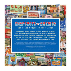 Snapshots of America Puzzle (500 pieces)
