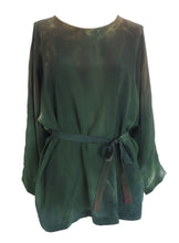 silkshirt longsleeve in shades of green