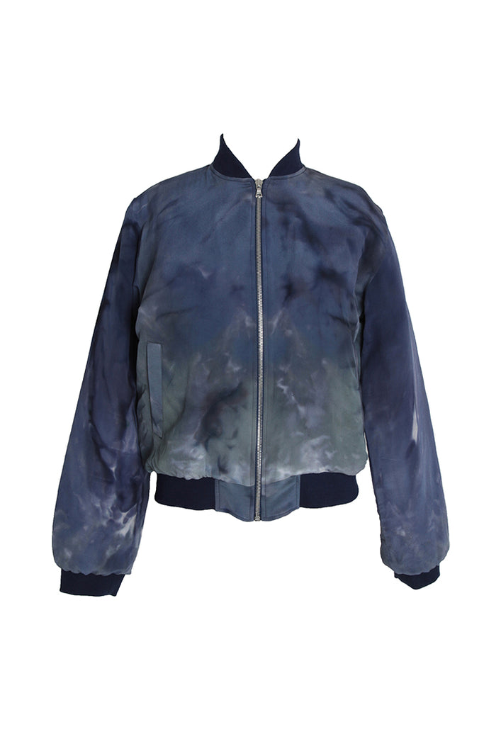 silk bomber-jacket S