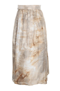 silk skirt gold