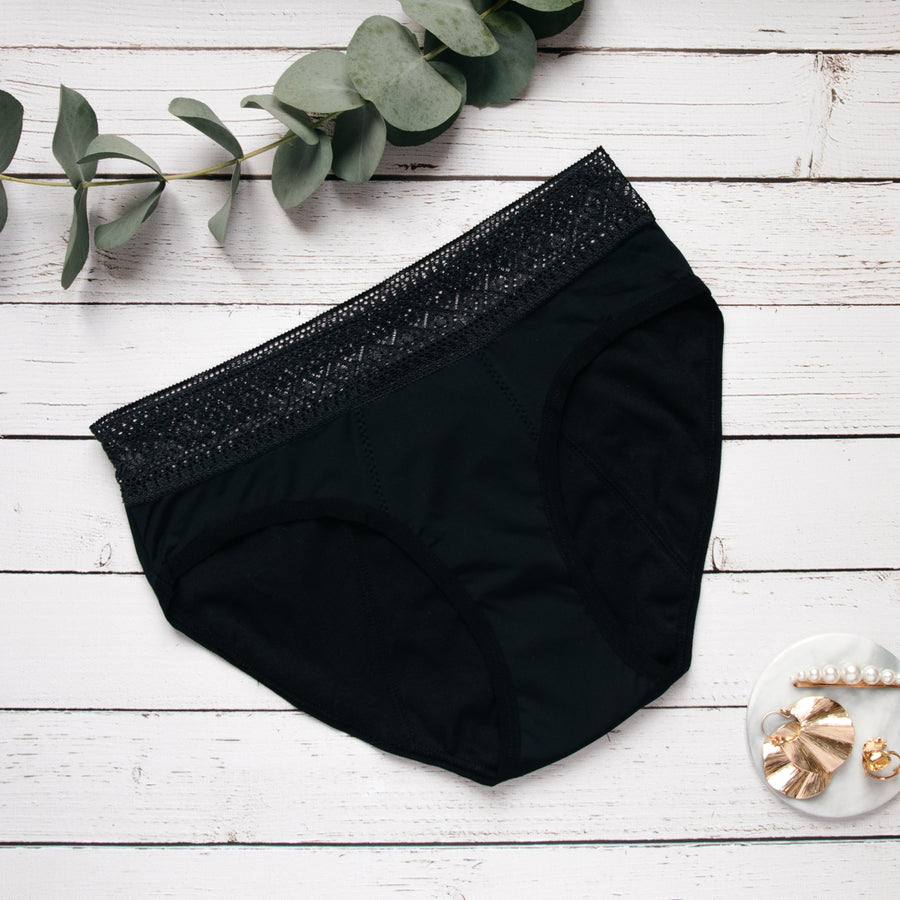 1 to 10 period underwear with sexy lace