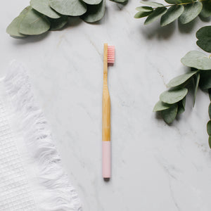 Toothbrush with coloured handle
