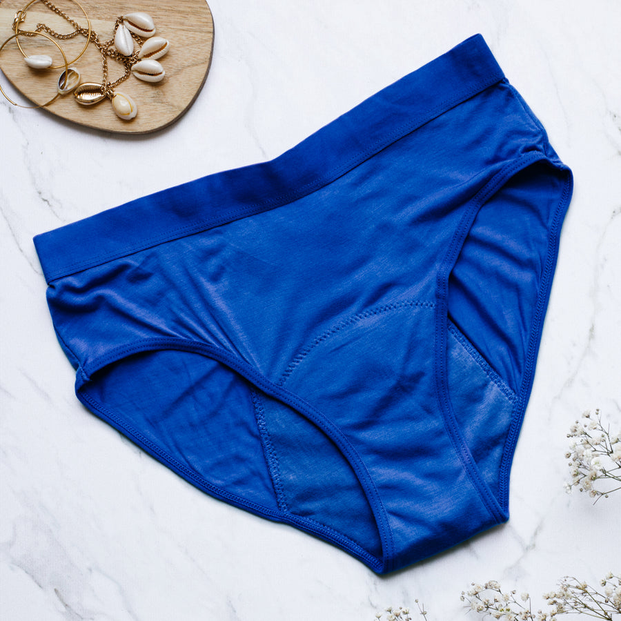 1 to 10 Blue bamboo fibers period underwear
