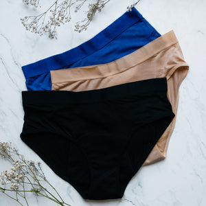 Set of 3 period underwear in bamboo fibers mix color
