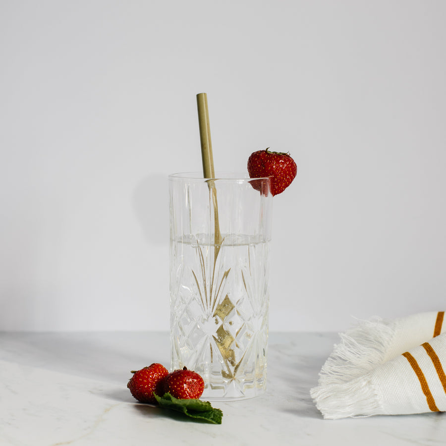 Set of 25 reusable bamboo straws