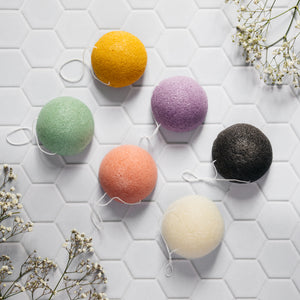 Pack of 6 Konjac sponges
